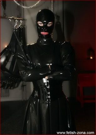 latex mistress domination in black