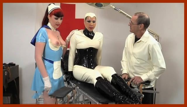 Fetish Clinic - Anna Rose , Valentina Fetish Doll - Ladies in latex bondage reach orgasm | MP4 360p