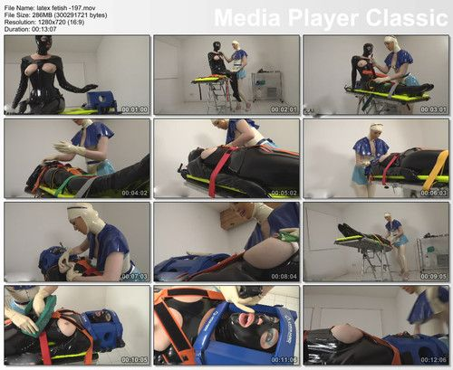 Medical bondage play in clinic