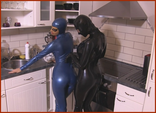 latex petting girls