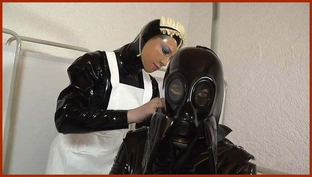 nurse fetish gas mask