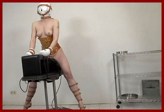 FETISH CLINIC - Anna Rose -  Riding sex machines in latex clinic | HD 720p