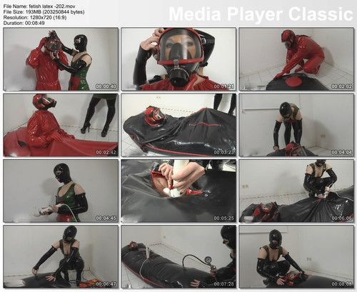 bondage in rubber bag