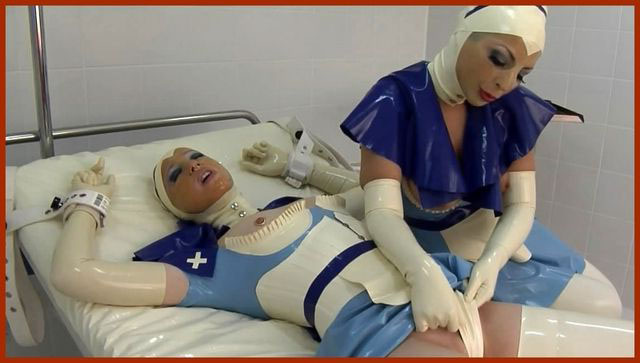 FETISH CLINIC - Anna Rose, Valentina - Latex babes at fetish session in clinic | HD 720p
