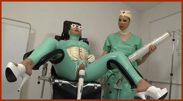 Fetish Clinic - Mistress Sandra , Valentina Fetish Doll - Kinky fetish games lesbos in hospital | HD 720p