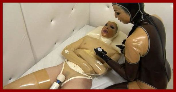 FETISH CLINIC - Anna Rose, Valentina - Extreme latex sex in straitjacket | HD 720p