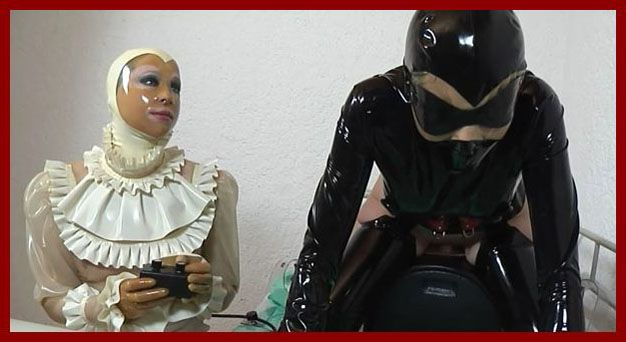 FETISH CLINIC - Anna Rose, Amarantha LaBlanche - Mechanical dick fucking pussy girls in latex | HD 720p