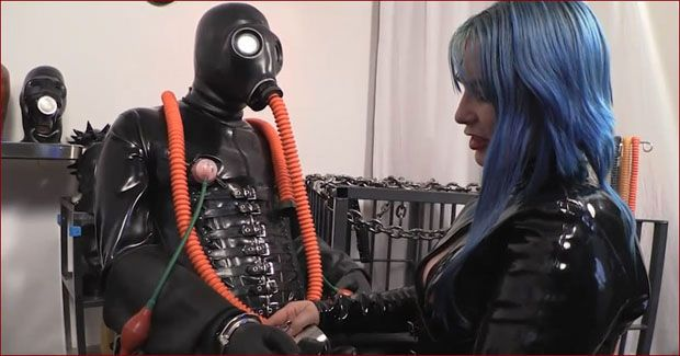 Mistress Alice - Women dominance over guys in rough rubber [HD 720p]