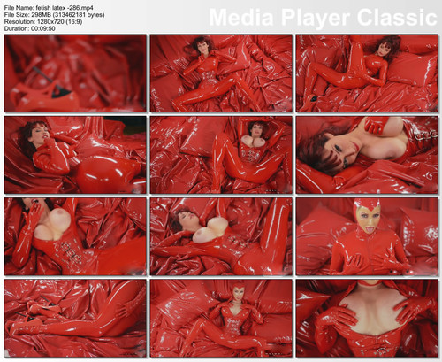 rubber red  women