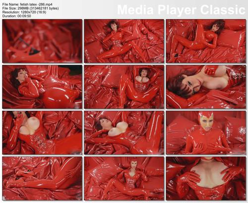 rubber red women