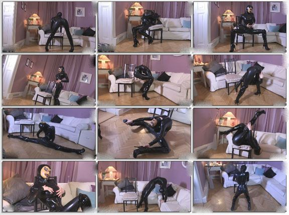 Sexy russian ballerina in fetish clip