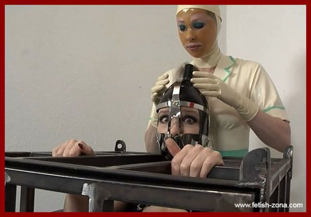 Fetish Clinic - Anna Rose, Aphasia - Bondage and orgasm lady in iron cage | HD 720p