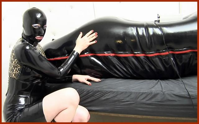 adult sex games lesbian in rubber bag