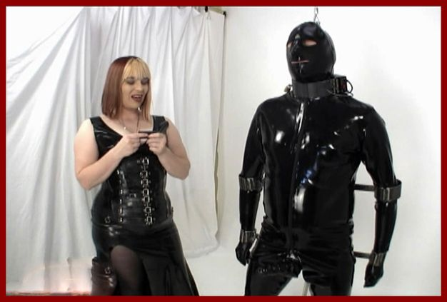 humiliation men in rubber