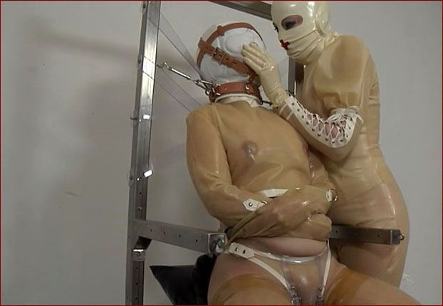 Fetish Clinic - Anna Rose, Aphasia - Latex straitjacket bondage in clinic [HD 720p]