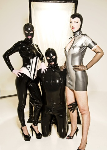 rubber three young people