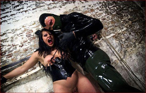 Hard fuck bondage in fetish video