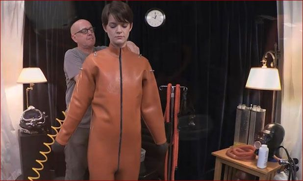 Serious Images - Hazel Hypnotic - Bondage and forced orgasm in costume coarse rubber [HD 720p]