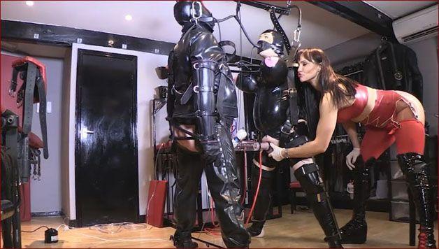 Serious Images - Mistress Miranda,Elise Graves,Petgirl Kako - Hardcore bondage for 2 guys [HD 720p]