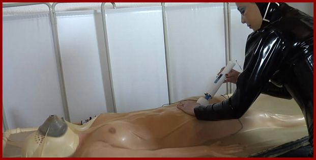 sex girl in rubber bed