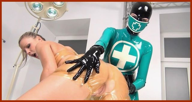 lesbos games rubber nurse in clinic with girlfriend