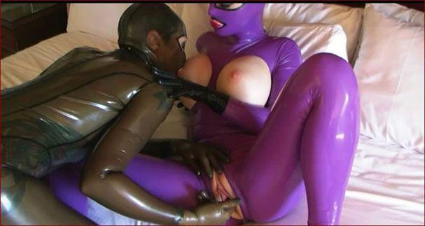 lesbian rubber fetish sex