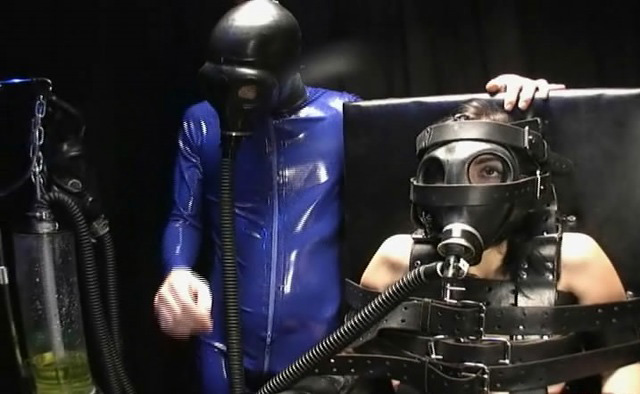 bondage in gas masks