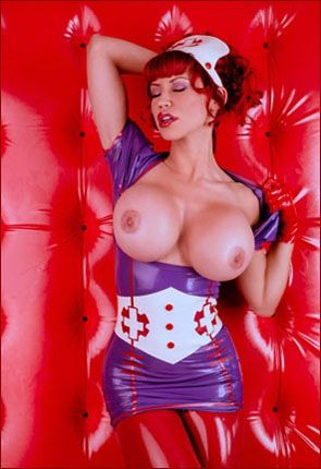 ILOVEBIANCA - Bianca Beauchamp - Red haired girl in latex nurse costume [JPEG 2002x3000]