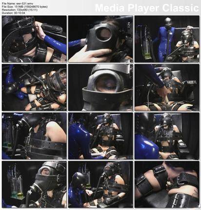bondage suit of rubber