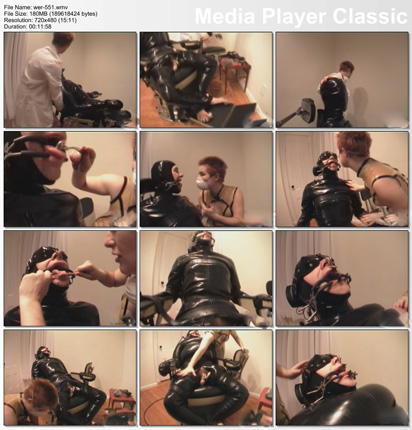 bdsm bodage in walls of fetish clinic