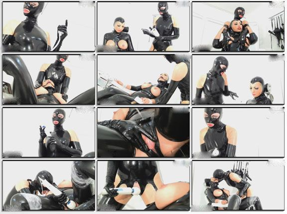 lesbians having sex in rubber masks in HD clip