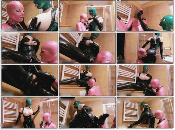 lesbian latex rubber games in HD video