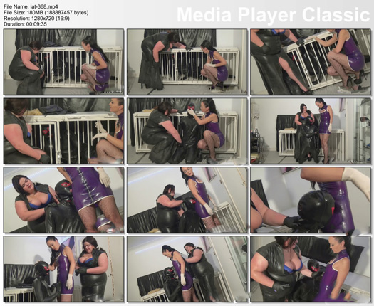 slave training guy from fat girl in rubber dress