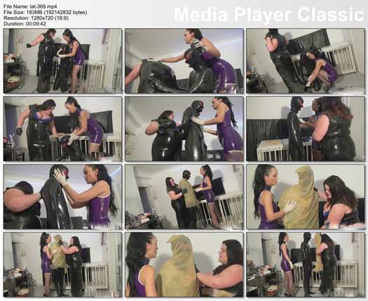 slave training guy from fat girl in rubber dress # part 2