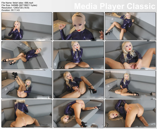 female mask doll young girl in HD video
