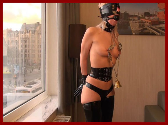 bondage clip with blonde