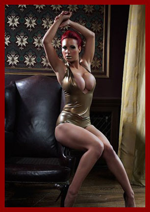 sexy women Tiffany Gold in latex