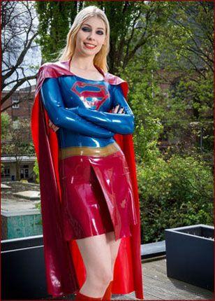 rubber women superheroes