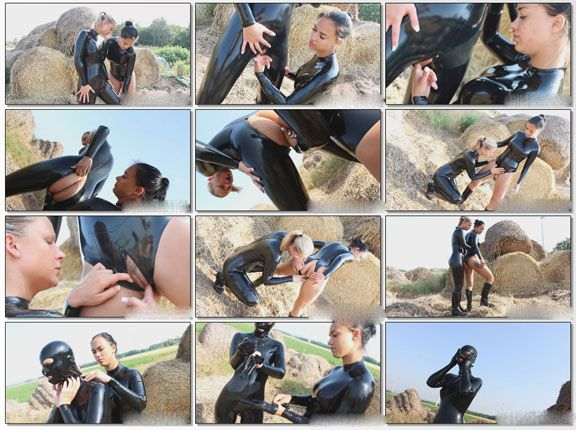 Pony girl fetish games in outdoors from studio NastyRubberGirls