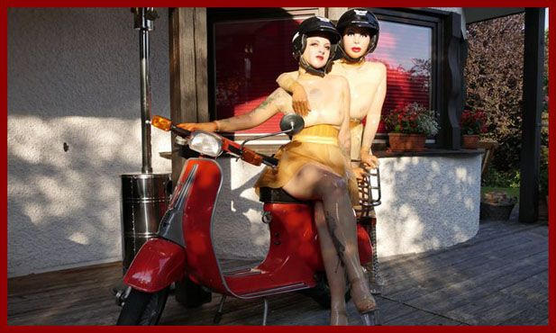 pictures sissy men where they are with friend on scooter