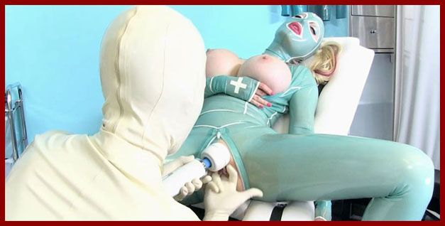 Rubber Passion - Latex Lucy - Sex between two lesbians in fetish clinic | HD 720p