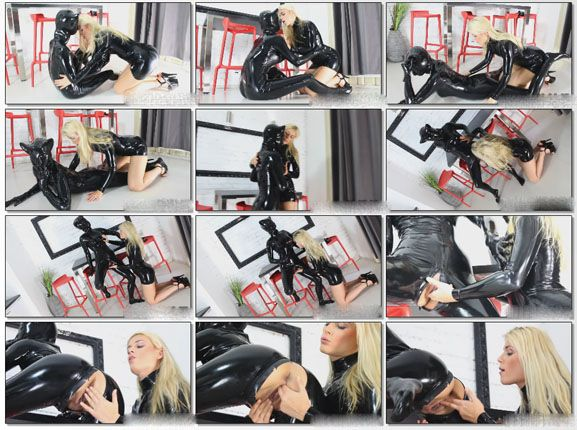 NastyRubberGirls - Mia, Sonia - Lesbian sex with rubber cat | HD 720p