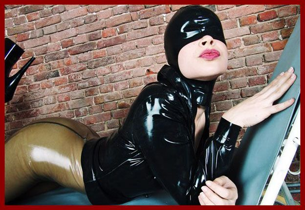sexy girls in rubber mask