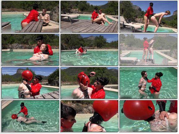 Water bondage in fetish videos in MP4