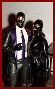 fetish photo with latex slave