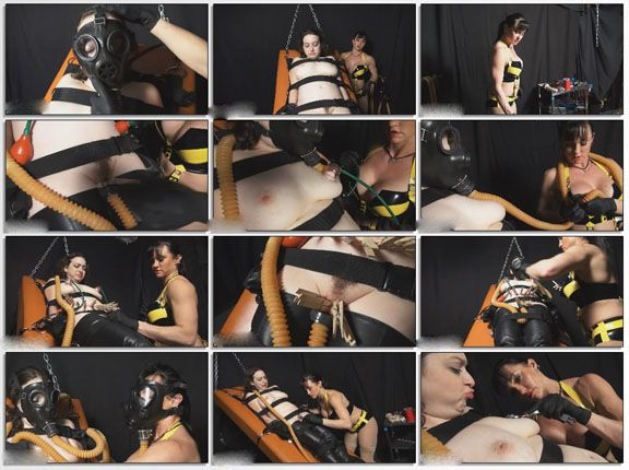 Adult bondage videos with Mrs in fetish video