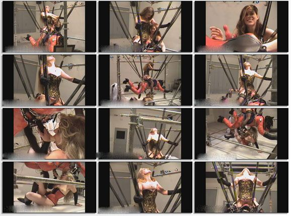 Male ponyplay in subordinate at girls in fetish video