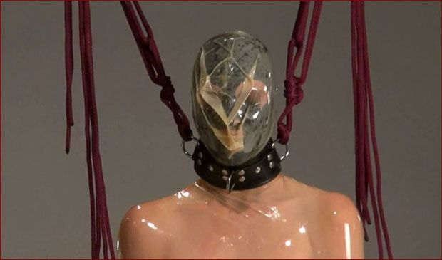 Spring - Bondage breathplay in rubber cocoon [HD 720p]