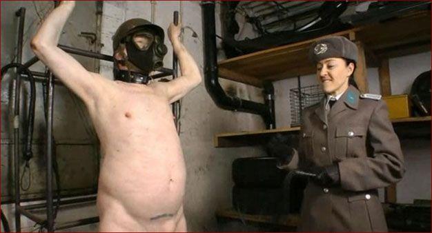 Baroness Bijou - Hot girl in uniform dominates above man [ WMV 576p]