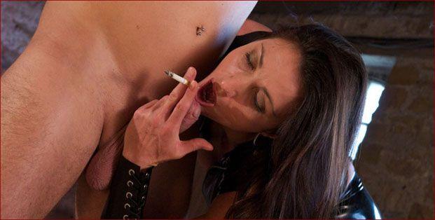 Miss Hybrid - Smoking femdom sucks thick penis [JPEG 1024x680]